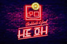 Логотип для коктейль бара HeoH