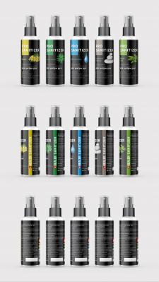 Дизайн серии этикеток санитайзеров Healer