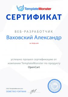 Разработка магазинов на Opencart