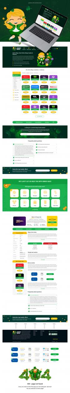 Дизайн сайта онлайн казино SammyBingo
