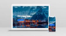 Верстка лендинга про туры по Норвегии
