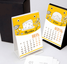 Настольный календарь для сырной компании
