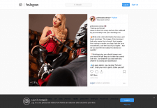 Пост в Instagram Фетиш-тематика