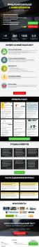 Меню в виде Landing Page для группы Вконтакте