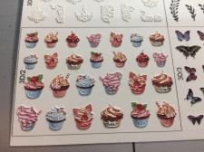 Отпечатанный макет наклеек для ногтей