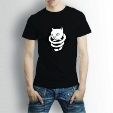"""футболка с векторной иллюстрацией """"загадочный кот"""""""