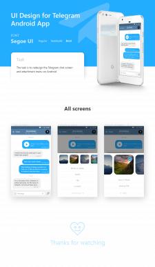 UI/UX Telegram Android App