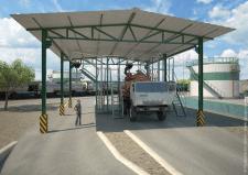 3Д модель узла налива продукции
