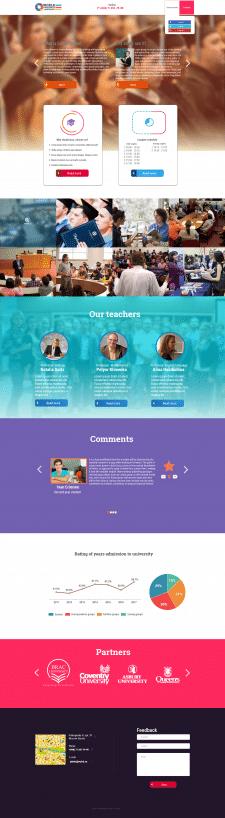 Сайт для института