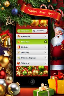 Новогодние тосты, пожелания, игры для iPhone