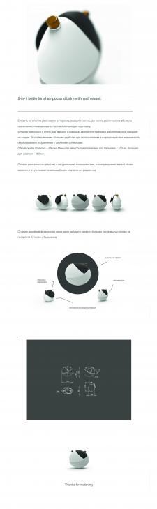 Дизайн бутылка для шапмуня