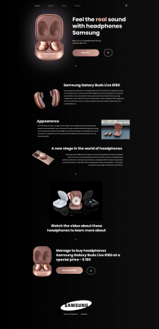 Web design. Дизайн главной страницы инт. магазина