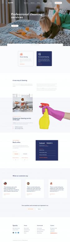 Cleaning company Sparcle