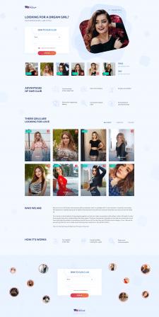 Landing Page для сайта знакомств