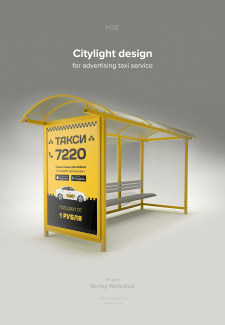 Citylight design for advertising taxi service