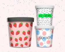Дизайн стаканчиков для мороженого