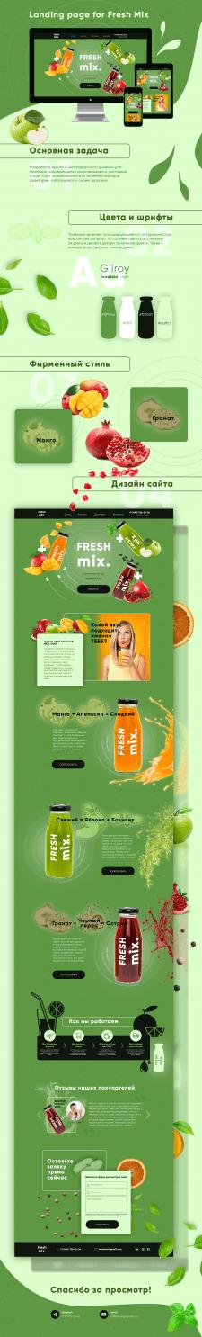 Сайт для доставки соков