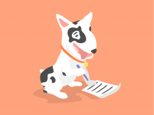 Дизайн персонажа собаки