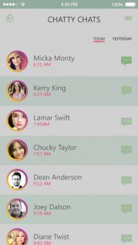Chatty app.Страница контактов