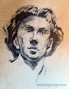 Наброски портрета карандашом