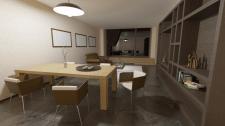 Визуализация гостиной частного дома