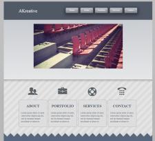 Страница сайта AKreative