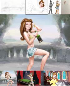 разработка 2х персонажей современных принцесс