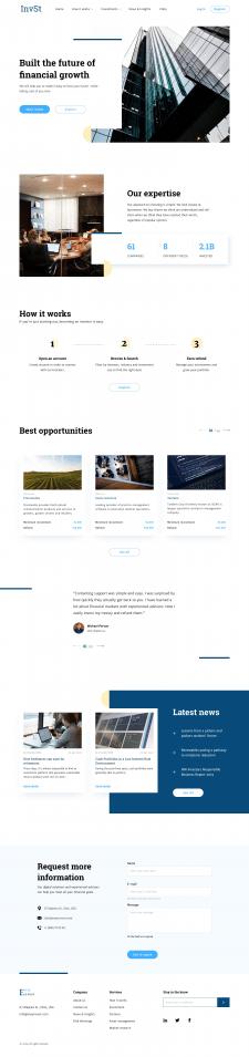 Корпоративный сайт инвестиционной компании