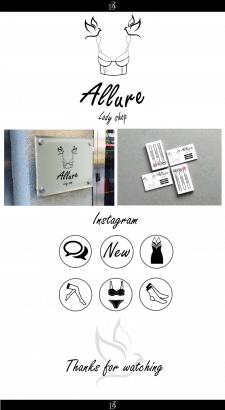 Логотип та айдентика для студії жіночої білизни