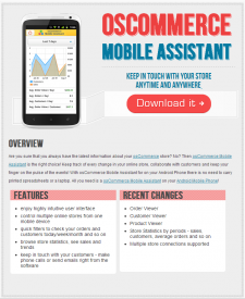OSCOMMERCE MOBILE ASSISTANT