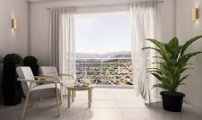 Визуализация спальни на Мальте. Вид на терассу