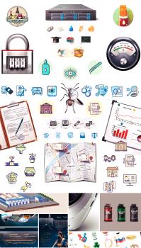Подборка работ по техдизайну и созданию иконок