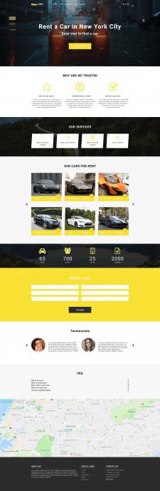Дизайн лендинга зарубежного сайта
