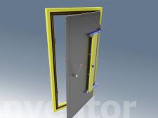 Дверь экранированной камеры распашная