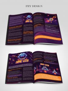 Развороты в журнал для игры time loop