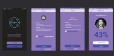 UI design concept для приложения знакомств