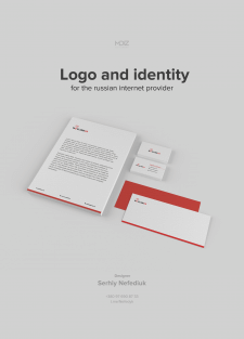 Logo and identity for the russian internet provide