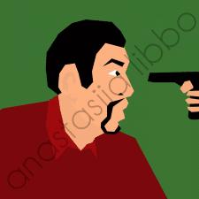 Мужчина и пистолет