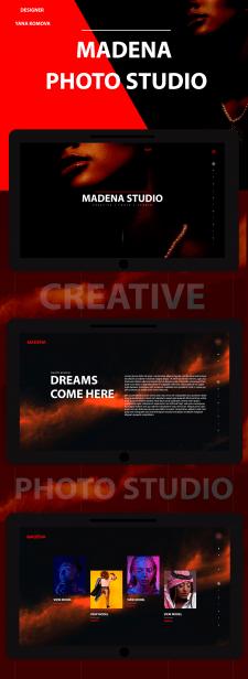 Дизайн сайта для фото студии