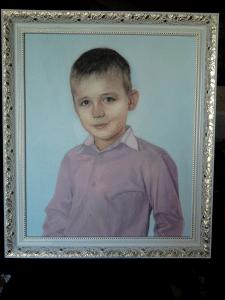портрет мальчика(масло холст)