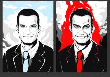 SinCity стилизация портрета
