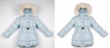 Выбеливание фона. Детская куртка