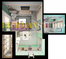 3д планировка однокомнатной квартиры