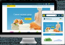 Сайт интернет магазина Polotenca (Opencart)