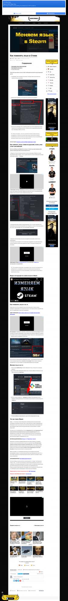 Статья «Как поменять язык в Steam»