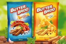 Дизайн упаковки сухариков BUTTERBROD
