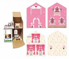 Выкройка для кукольного домика из картона