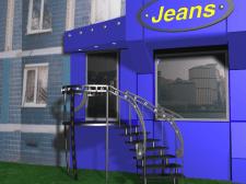 """Дизайн вывески магазина """"Jeans"""""""