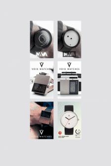 Серия баннеров эксклюзивных дизайнерских часов для