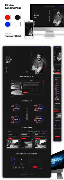 Eli Lion Landing Page